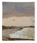 The Seashore At Sainte Adresse Fleece Blanket