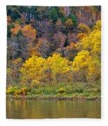 The Season Of Yellow Leaves Fleece Blanket