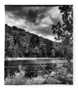 The Secluded Bald Mountain Pond Fleece Blanket