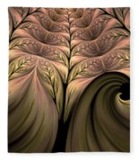 The Secret World Of Plants Abstract Fleece Blanket