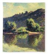 The Seine At Port-villez, 1883 Fleece Blanket