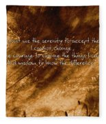The Serenity Prayer 1 Fleece Blanket