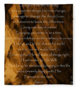 The Serenity Prayer Fleece Blanket