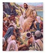 The Sermon On The Mount Fleece Blanket