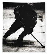 The Shadows Of Hockey Fleece Blanket