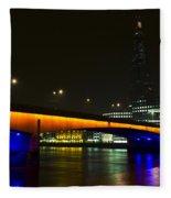 The Shard And London Bridge Fleece Blanket