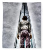 The Shard And Man Statue Fleece Blanket
