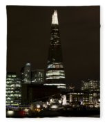 The Shard And Southbank London Fleece Blanket
