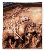 Saint Gaudens' The Shaw Memorial Fleece Blanket