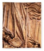 Saint Gaudens -- The Shaw Memorial's Left Side Fleece Blanket