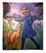 The Shepherdess Fleece Blanket