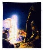 The Shepherds And The Angel Fleece Blanket