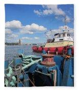 The Shipyard Fleece Blanket