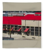 The Shipyards In Vancouver Fleece Blanket