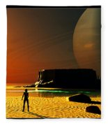 The Shore Of The Cupric Seas... Fleece Blanket