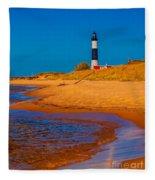 The Shore To Big Sable Fleece Blanket