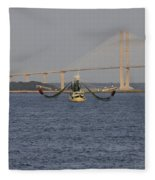 The Shrimp Boat Predator  Art Fleece Blanket