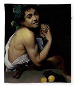 The Sick Bacchus, 1591  Fleece Blanket