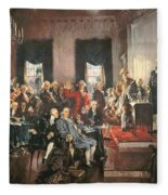 The Signing Of The Constitution Of The United States In 1787 Fleece Blanket
