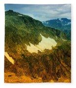 The Silent Mountains Fleece Blanket