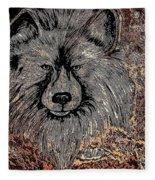 The Silver Wolf 2 Fleece Blanket
