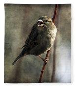 The Singing Sparrow Fleece Blanket