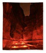 The Siq -- Petra Fleece Blanket