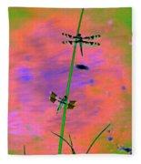 The Skimmer And The Whitetail Art #1 Fleece Blanket