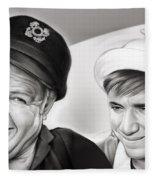 The Skipper And Gilligan Fleece Blanket
