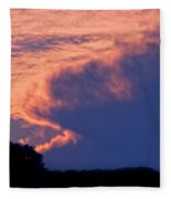 The Sky On Fire Fleece Blanket