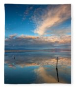 The Sky Whispered Fleece Blanket