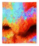 The Smell Of Color Fleece Blanket