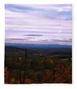 The Smokey Mountains From Hanging Rock State Park Fleece Blanket
