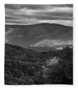 The Smokies In Black And White Fleece Blanket