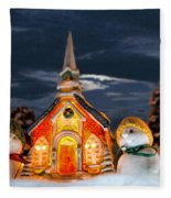 The Snowdens At Church Fleece Blanket