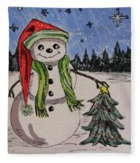 The Snowman's Tree Fleece Blanket