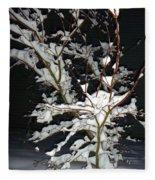 The Snowy Tree Fleece Blanket