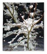 The Snowy Tree II Fleece Blanket