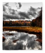 The South End Of Cary Lake Fleece Blanket