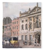 The South Front Of Ironmongers Hall, From R. Ackermanns Repository Of Arts 1811 Colour Litho Fleece Blanket