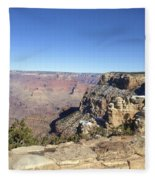 The South Rim In The Winter Fleece Blanket