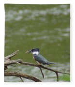 The Southern Kingfisher Side View Fleece Blanket