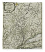The Southern Part Of The Province Of New York Fleece Blanket