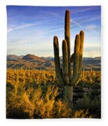 The Southwest Golden Hour  Fleece Blanket