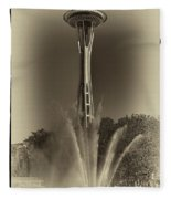 The Space Needle - Back In Time Fleece Blanket