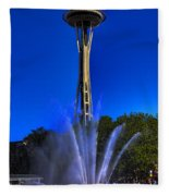 The Space Needle Fleece Blanket