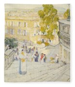 The Spanish Steps Of Rome Fleece Blanket