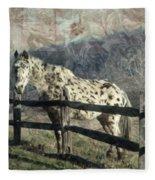 The Speckled Horse Fleece Blanket
