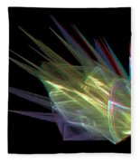 The Speed Of Light - Use Red/cyan Filtered 3d Glasses Fleece Blanket