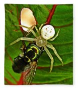 The Spider And The Fly  Fleece Blanket